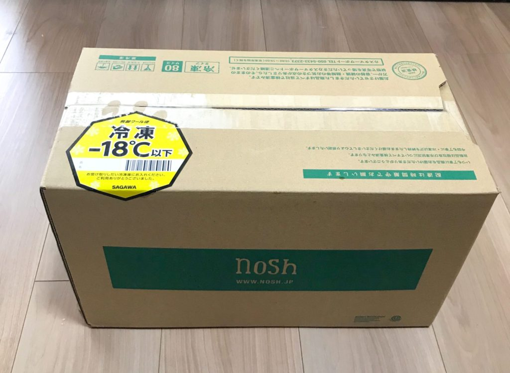 noshナッシュパッケージとサイズ感