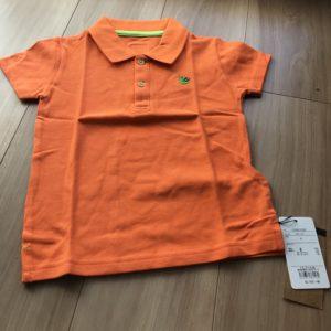 ベーシック刺繍ポロシャツ かまきりくん オレンジ