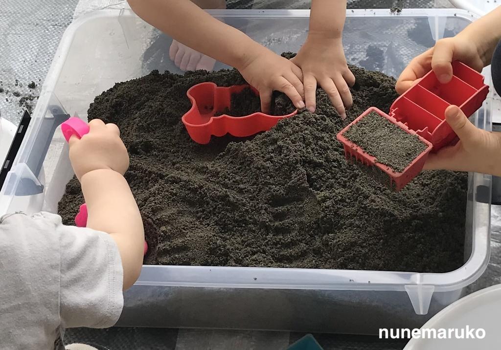 ベランダ砂場完成図